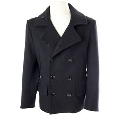 Mikael Blomkvist Hero Charcoal Gray Wool Peacoat from The Girl with the Dragon Tattoo