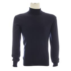 Martin Vanger Hero Navy Turtleneck Sweater from The Girl with the Dragon Tattoo