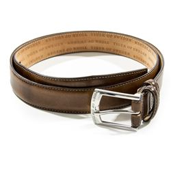 Martin Vanger Hero Brown Tiger of Sweden Leather Belt from The Girl with the Dragon Tattoo