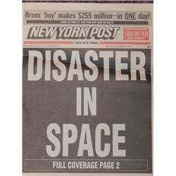"""Screen Used Prop Newspaper from """"Armageddon"""""""