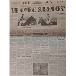 """RARE Screen Used Prop Newspaper from """"Seabiscuit"""""""