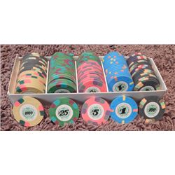 """Set of 98 Screen Used 007 """"Licence To Kill"""" Poker Chips"""