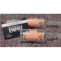 "Lot of 2 Old Taylor Kentucky Prop Whiskey Bottle from ""Boardwalk Empire"""