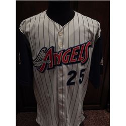 Troy Glaus Game Used Sept 11 Memorial Anaheim Angels Jersey #25