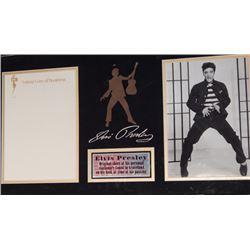 Framed Elvis Presley Stationary