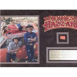 """22x16 Framed """"General Lee"""" Dodge Charger Sheet Metal Piece"""