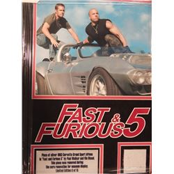 """17x21 Framed Piece of 1963 Silver Corvette Grand Sport """"Fast and Furious 5"""""""