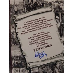 "Helen Reddy Signed 10x13 ""I am Woman"" Lyrics"