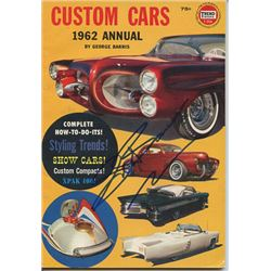 George Barris Signed 1962 Custom Cars Annual Book