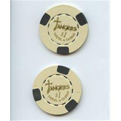 """Robert DeNiro """"Casino"""" Lot of 2 Screen Used Tangiers Poker Chips"""