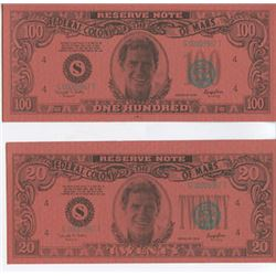 Lot of 2 Screen Used Total Recall Prop Bank Notes