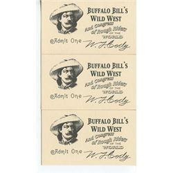 Lot of 3 Buffalo Bill's Wild West Tickets