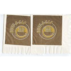 """Lot of 2 Screen Used Prop Bust-A-Cap Napkins from """"Jackie Brown"""""""