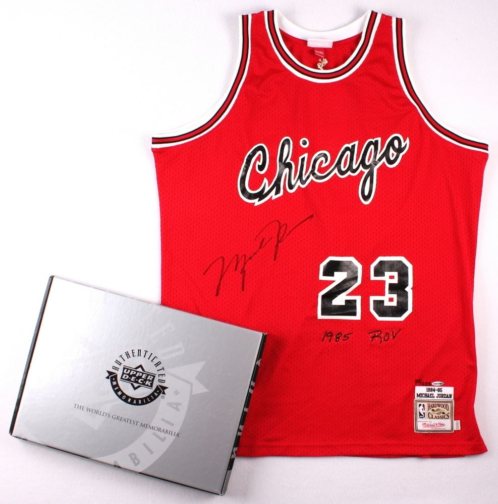ba97b77ca7f26e Image 1   Michael Jordan Signed LE Authentic Mitchell   Ness 1984-85