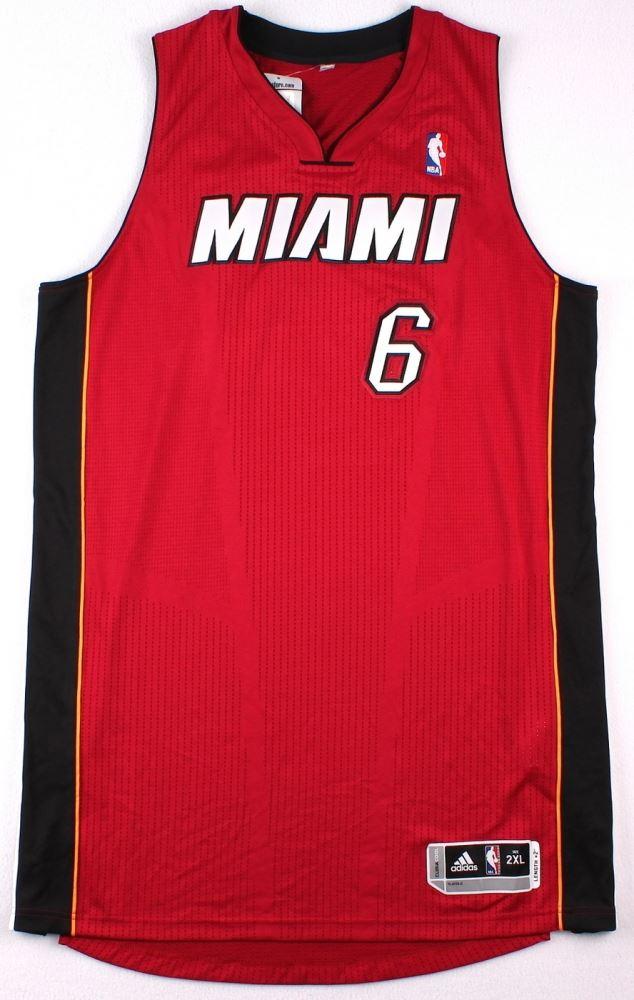 more photos ac3f1 eb41d LeBron James Signed LE Miami Heat Authentic Adidas Alternate ...