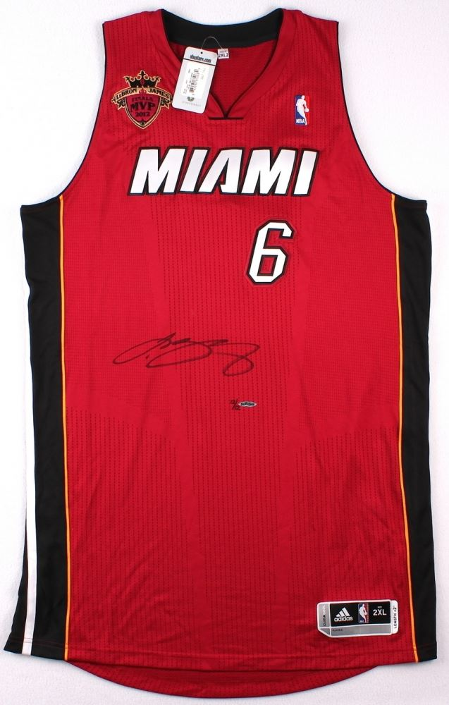 5e9d49781d2 ... Image 2   LeBron James Signed LE Miami Heat Authentic Adidas Alternate  Jersey with 2012 NBA ...