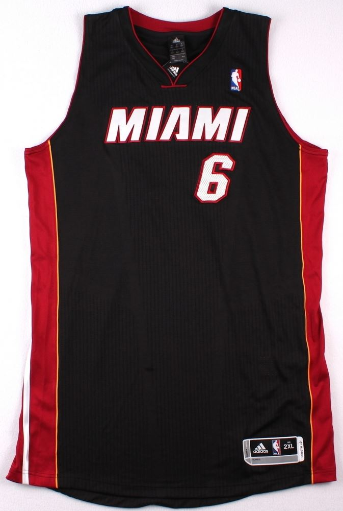 huge selection of ed622 be15b LeBron James Signed LE Miami Heat Authentic Adidas Away ...