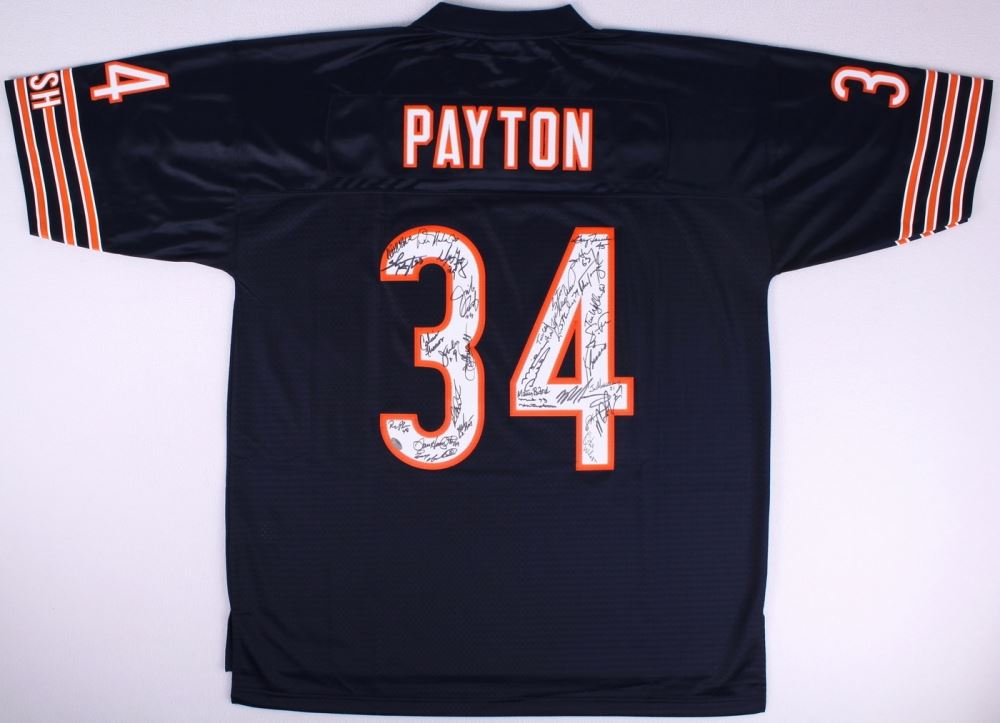 super cute 6ab29 00f90 1985 Chicago Bears Team Signed #34 Jersey Signed By (30 ...