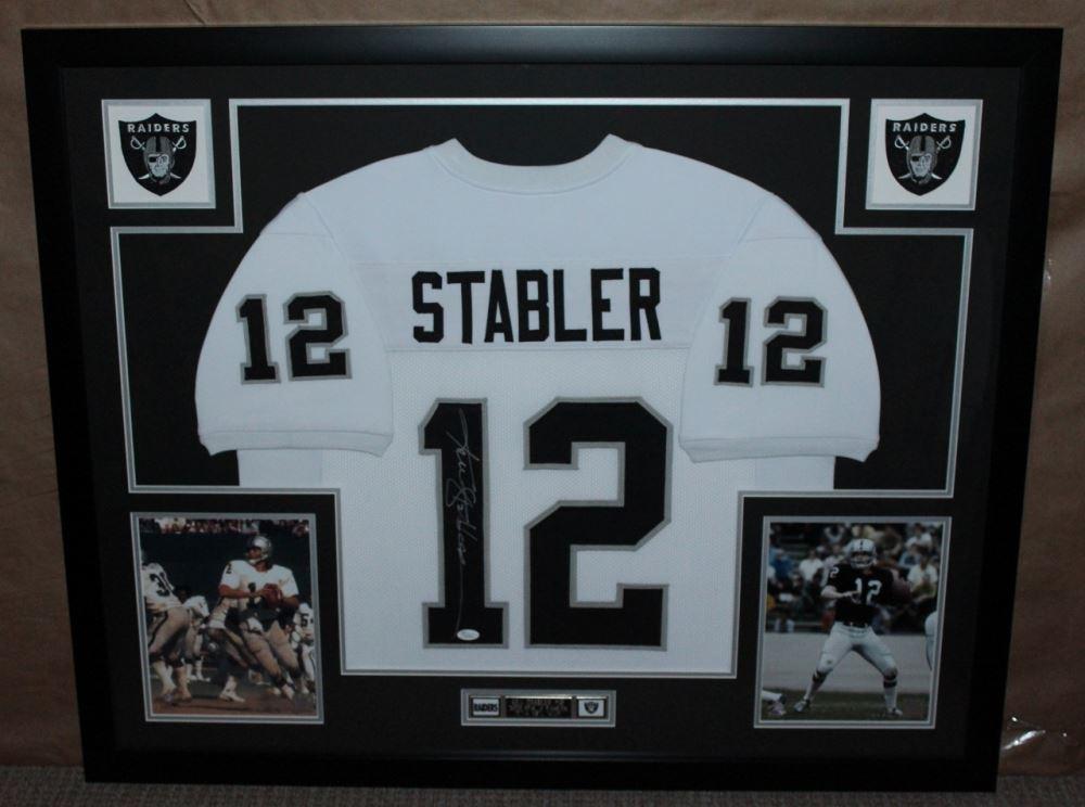 the best attitude 34ea1 171b5 Ken Stabler Signed Raiders 35