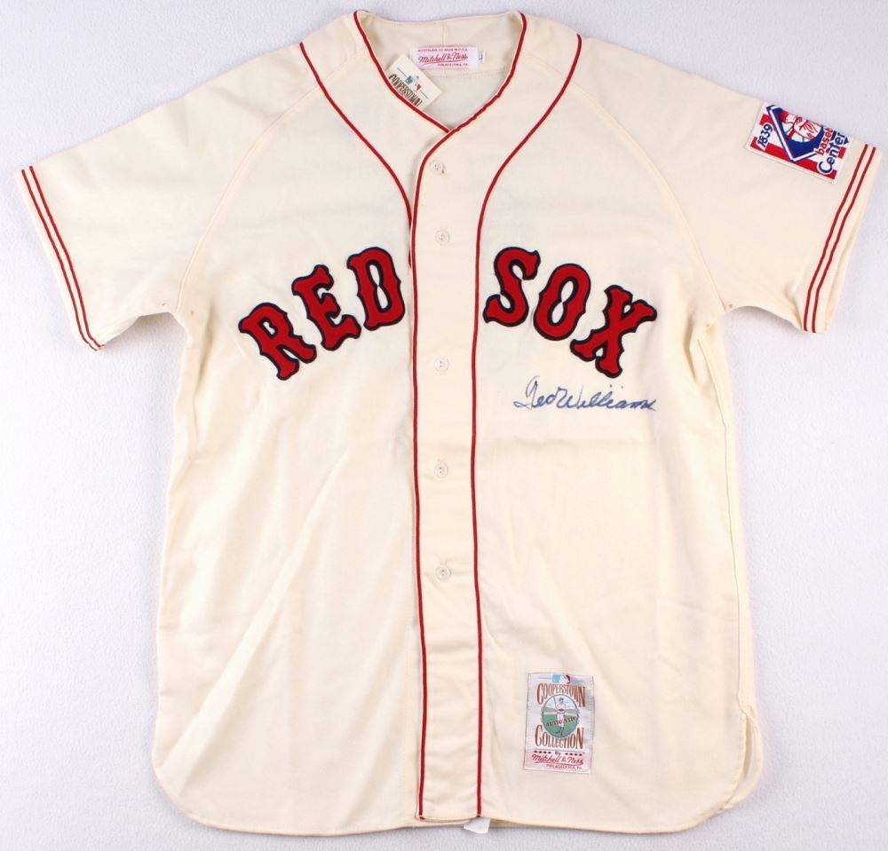release date: dabca 02cb7 Ted Williams Signed Red Sox Throwback Jersey (JSA ALOA)