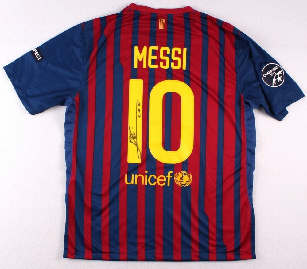 cheaper cc039 1cf20 Lionel Messi Signed Barcelona Nike Authentic Soccer Jersey ...