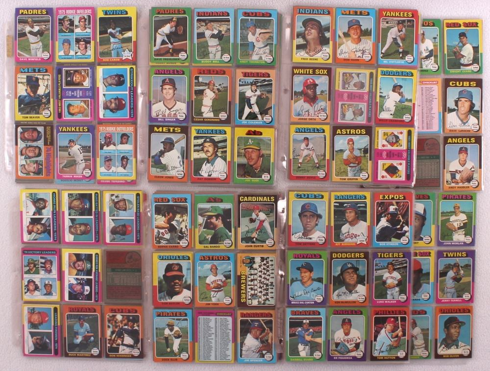 1975 Topps Complete Set Of 660 Baseball Cards With 228 George
