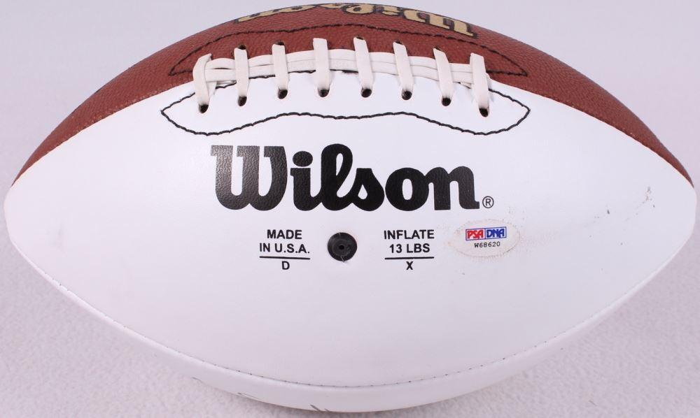 save off 0512b e6c57 Junior Seau Signed Chargers Logo White Panel Football (PSA COA)