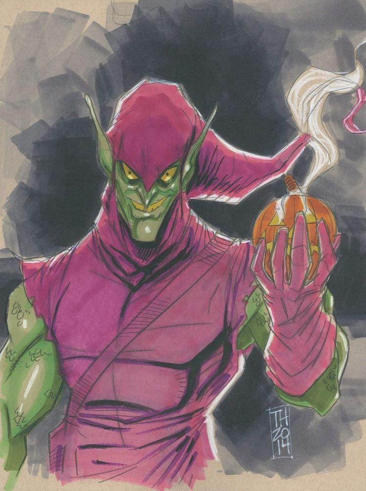 Dan Prado PradoInkworks Signed Spidey vs Green Goblin Full Colored Print