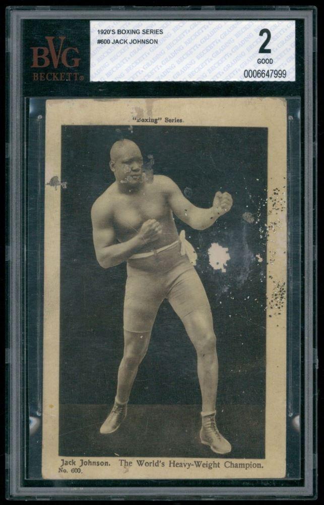 Jack Johnson 1920s Boxing Series Postcard (BVG 2)