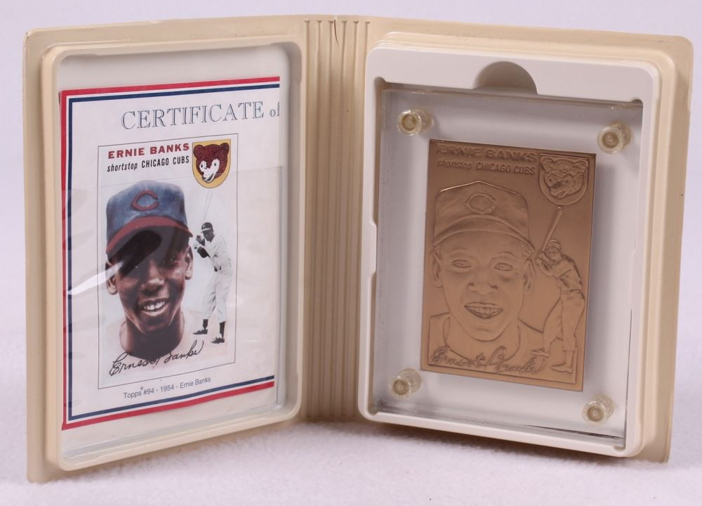 Ernie Banks Le 1954 Topps 94 Rc Solid Bronze Baseball