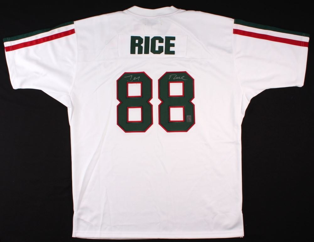 size 40 595db 8e67f Jerry Rice Signed Mississippi Valley State Jersey (Rice ...