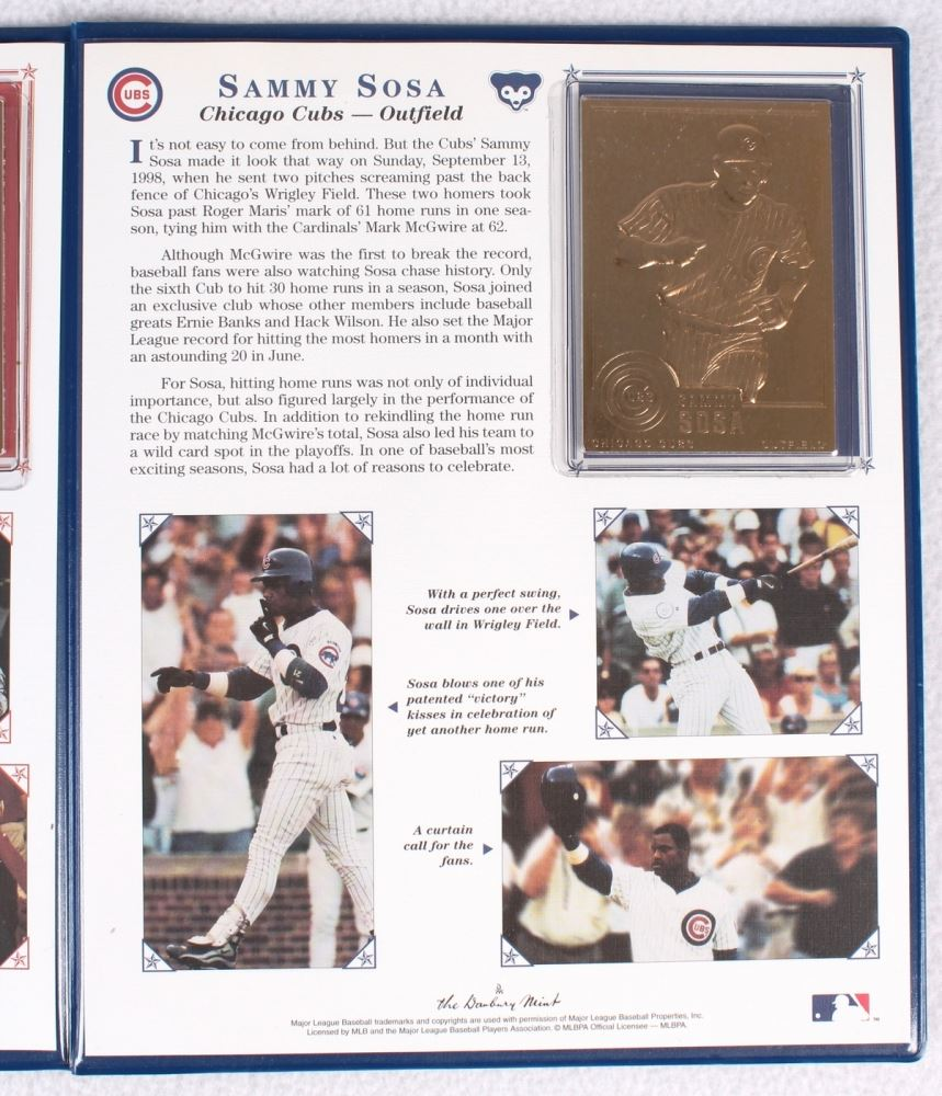 Mark Mcgwire Sammy Sosa 22 Karat Gold Card Breaking The