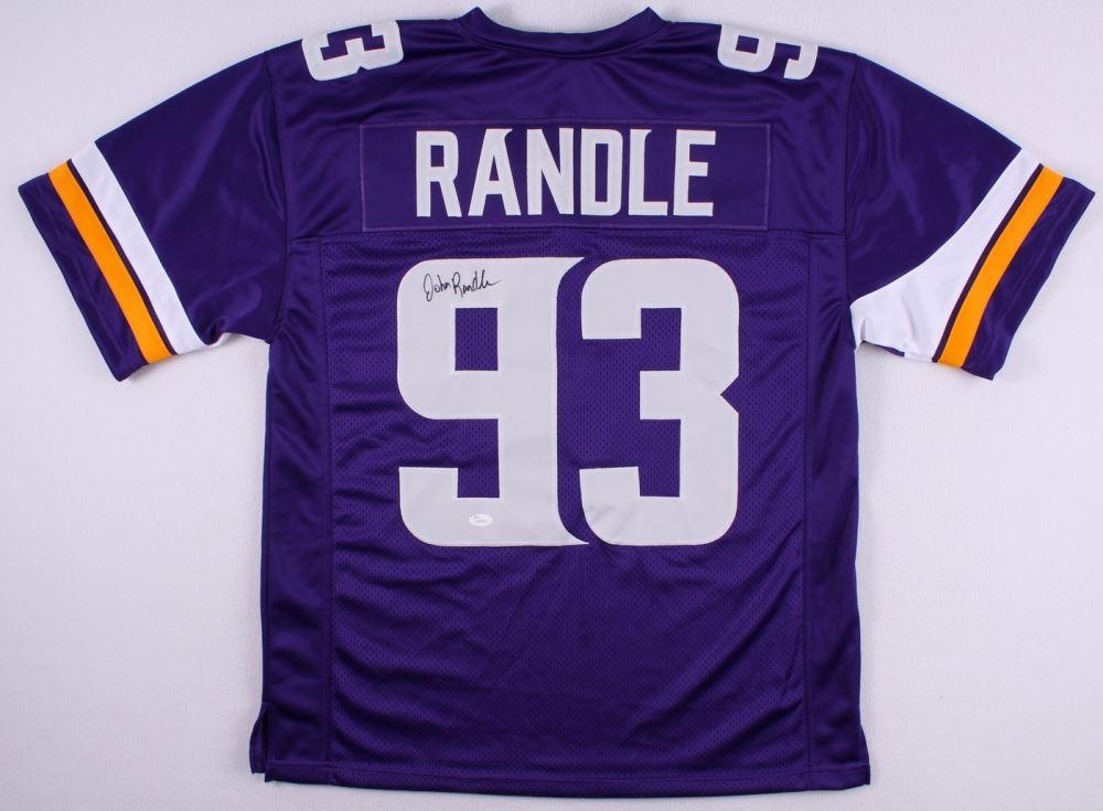 huge selection of cf466 21359 John Randle Signed Throwback Vikings Jersey (JSA COA)