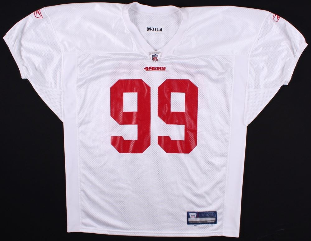 4af18875874 Image 1   San Francisco 49ers 2009  99 Reebok Team-Issued Practice Jersey  ...