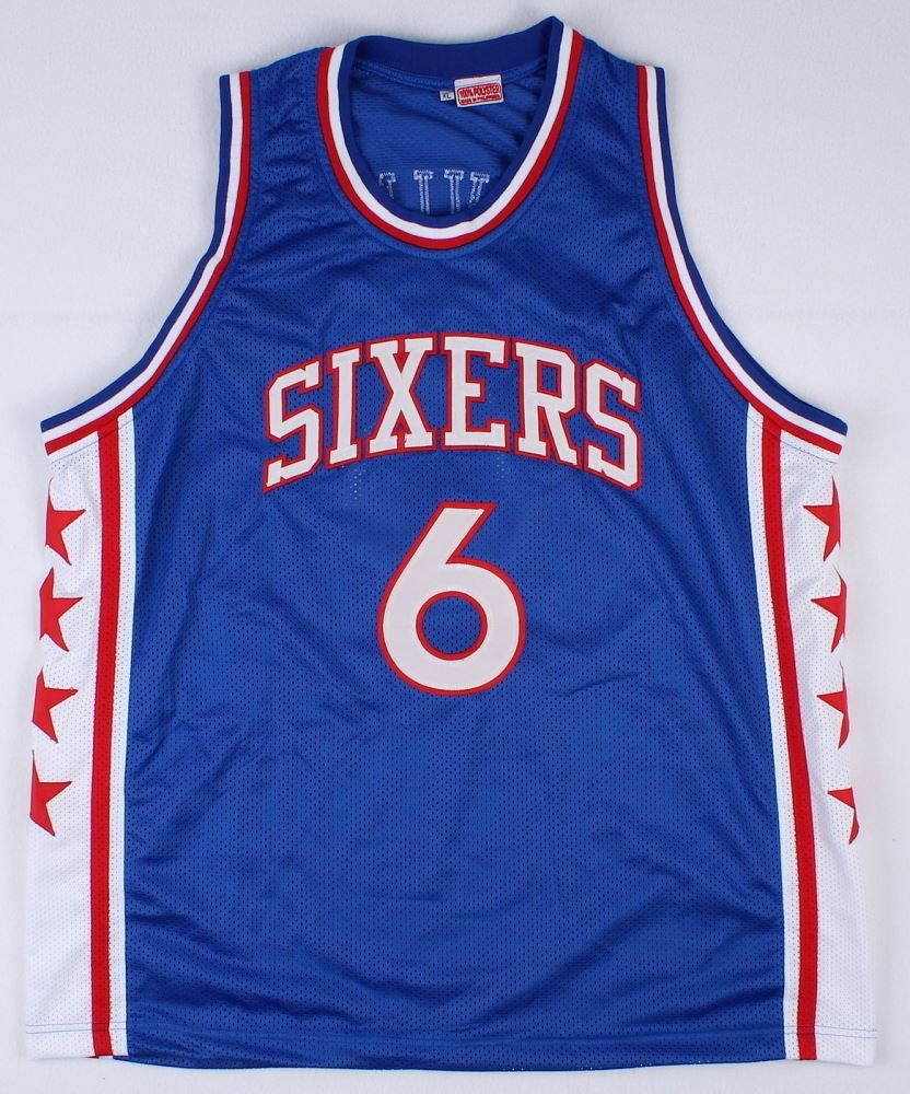 sale retailer e5156 1a866 Julius Erving Signed Sixers Throwback Jersey Inscribed