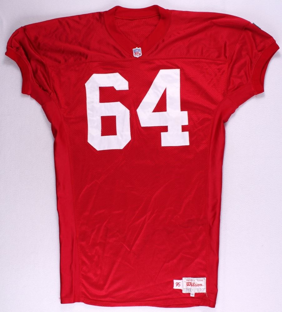 brand new 020bd 639d1 San Francisco 49ers 1995 #64 Wilson Game-Used Jersey