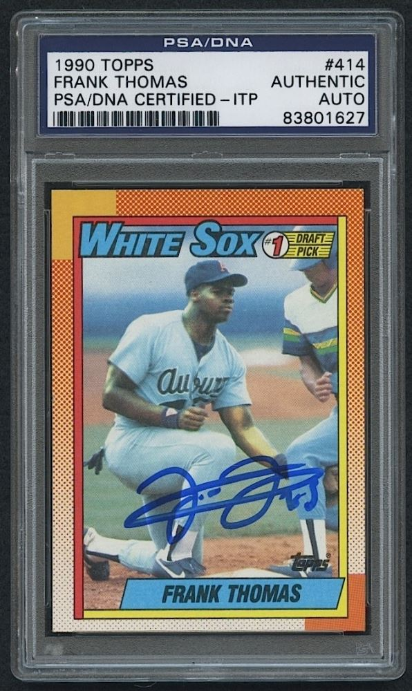 Frank Thomas Signed 1990 Topps 414 Rc Psa