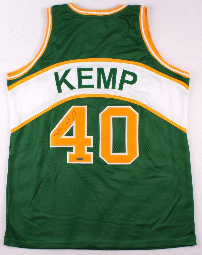 550052325f9 Image 1 : Shawn Kemp Signed Supersonics Jersey (Tristar) ...