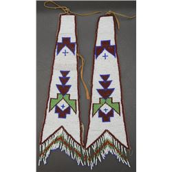 TWO PLAINS BEADED DROPS