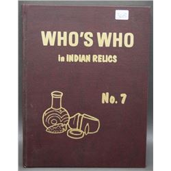 BOOK WHO'S WHO IN INDIAN RELICS