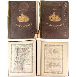 Coltons Two Volume World Atlas 1855