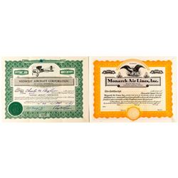 Aircraft Stock Certificates