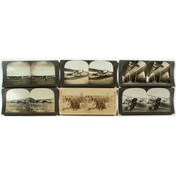 Early Aviation Stereoview Cards Group