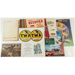 TWA Airlines Ephemera Package