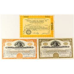 American Austin Car Company Stock Certificates