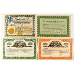 Cole Motor Car Company Stock Certificates