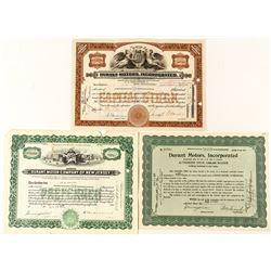 Durant Motors Stock Certificates