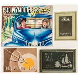 Ford and Plymouth Catalogs and Guides