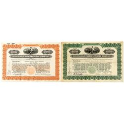 H.H. Franklin Manufacturing Co. Stock Certificates