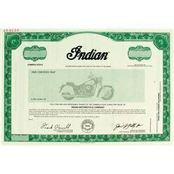 Indian Chief Motorcycle Specimen Stock Certificate